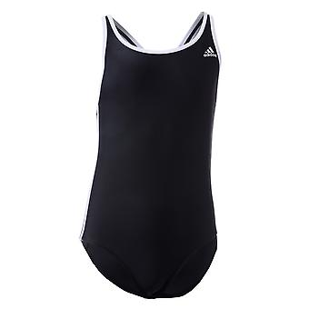 Infant Girls adidas 3 Stripes Swimsuit In Black-White- Infinitex� Energy- Chlorine
