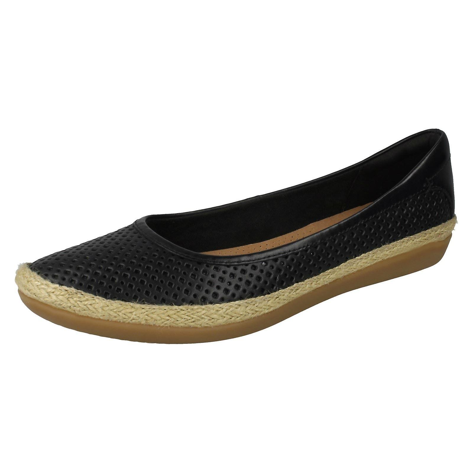 Damen Clarks Sommer Ballerina flache Schuhe