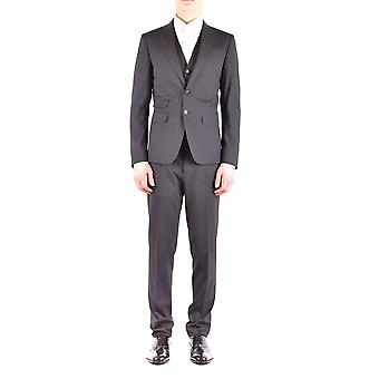 Dsquared2 men's S74FS0014S40320855 Blau wool suit