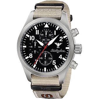 KHS mens watch Airleader Steel Chronograph KHS. AIRSC. NXTLT5