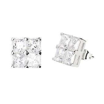 Orecchini dell'argento sterlina 925 - cubo 10 mm