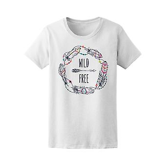 Wild And Free Feather Wreath Tee Women's -Image by Shutterstock