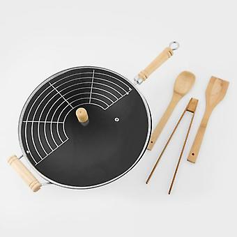 Bigbuy Wok pan with accessories 6 pieces (Kitchen , Household , Woks and Paelleras)