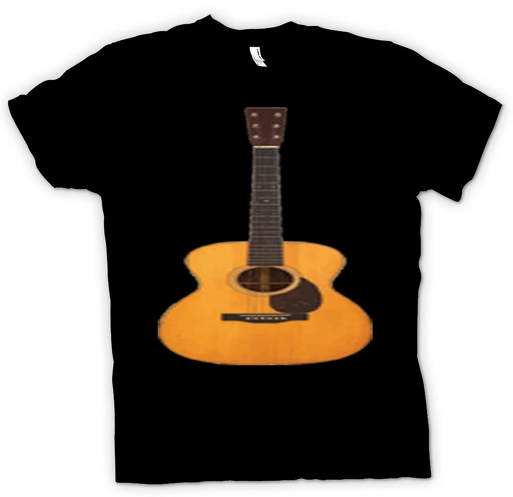 Womens T-shirt - Acoustic Guitar Rock & Roll