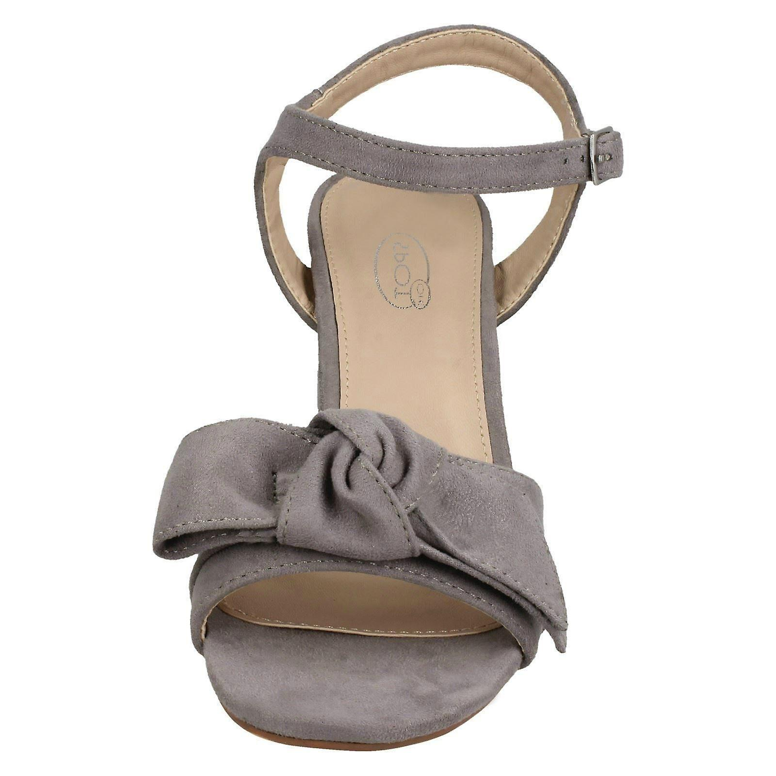 F10840 Size Blocked 41 EU Size UK Size Grey Heel On Sandals 10 US 8 Spot Microfibre Ladies xZCwOqXZ