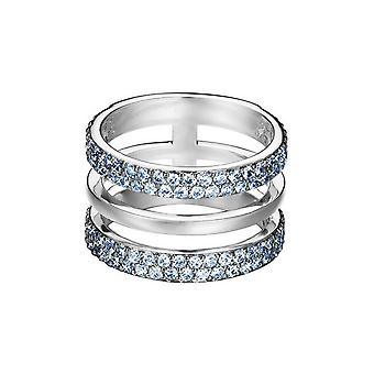ESPRIT women's ring stainless steel Silver cubic zirconia Blau ESRG02784D