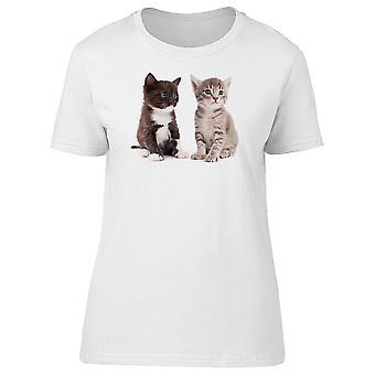 Two Kittens Looking Away Tee Women's -Image by Shutterstock