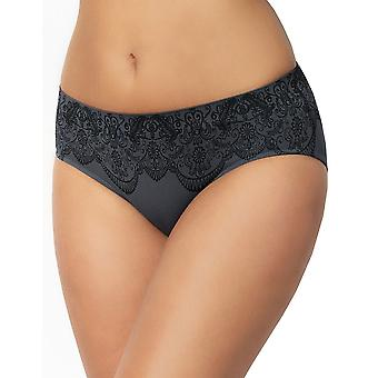 Sans Complexe 609614 Women's Sensation Seconde Peau Anthracite Grey Solid Colour Knickers Panty Full Brief