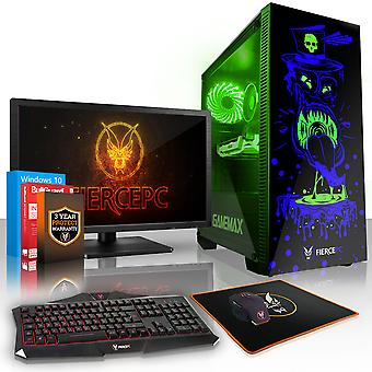 Felle GOBBLER Gaming PC, snelle Intel Core i5 8500 4.1 GHz, 120 GB SSD, 1 TB HDD, 16 GB RAM, GTX 1060 3 GB