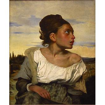 Orphan Girl at the Cemetery, Eugene Delacroix, 66x54cm