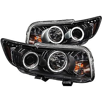 AnzoUSA 121280 Black Clear Projector Halo Headlight for Scion xB - (Sold in Pairs)