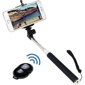 Selfie stick LogiLink BT0034 8.7 cm 1/4 Black/silver incl. wrist strap