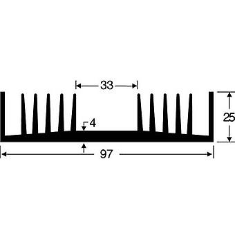 Heat sink 1.6 C/W (L x W x H) 100 x 97 x 25 mm Fischer Elektronik SK 72 100 SA