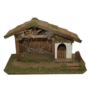 Crib Nativity scene wood Nativity stable MARKUS hand work for characters up to 12 cm