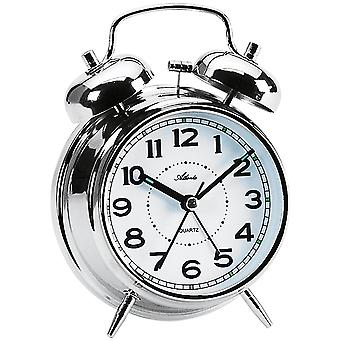 Atlanta 1646/19 alarm clock quartz analog Bell alarm clock twin Bell alarm clock silver