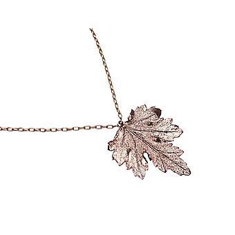 Feuille chaîne electro plaqué chrysanthème feuille Collier or plaqué