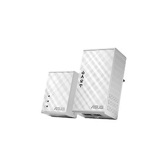 ASUS PL-N12KIT Homeplug kit with Wi-Fi, 500Mbps via the mains, white