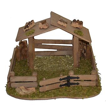 Nativity accessories stable Nativity set shelter sheep shelter animal shelter