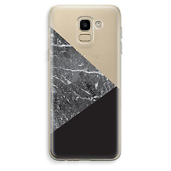 Samsung Galaxy J6 (2018) Transparent Case (Soft) - Marble combination