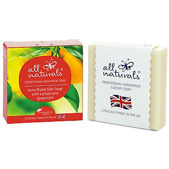 All Naturals Organic Acne Soap Lemon Spearmint 100g
