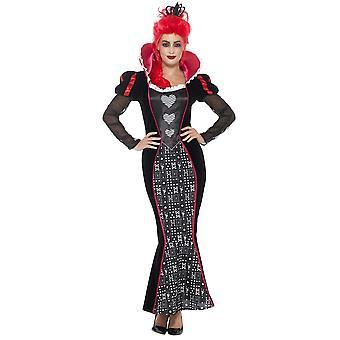 Costumi donna cuore regina abito barocco