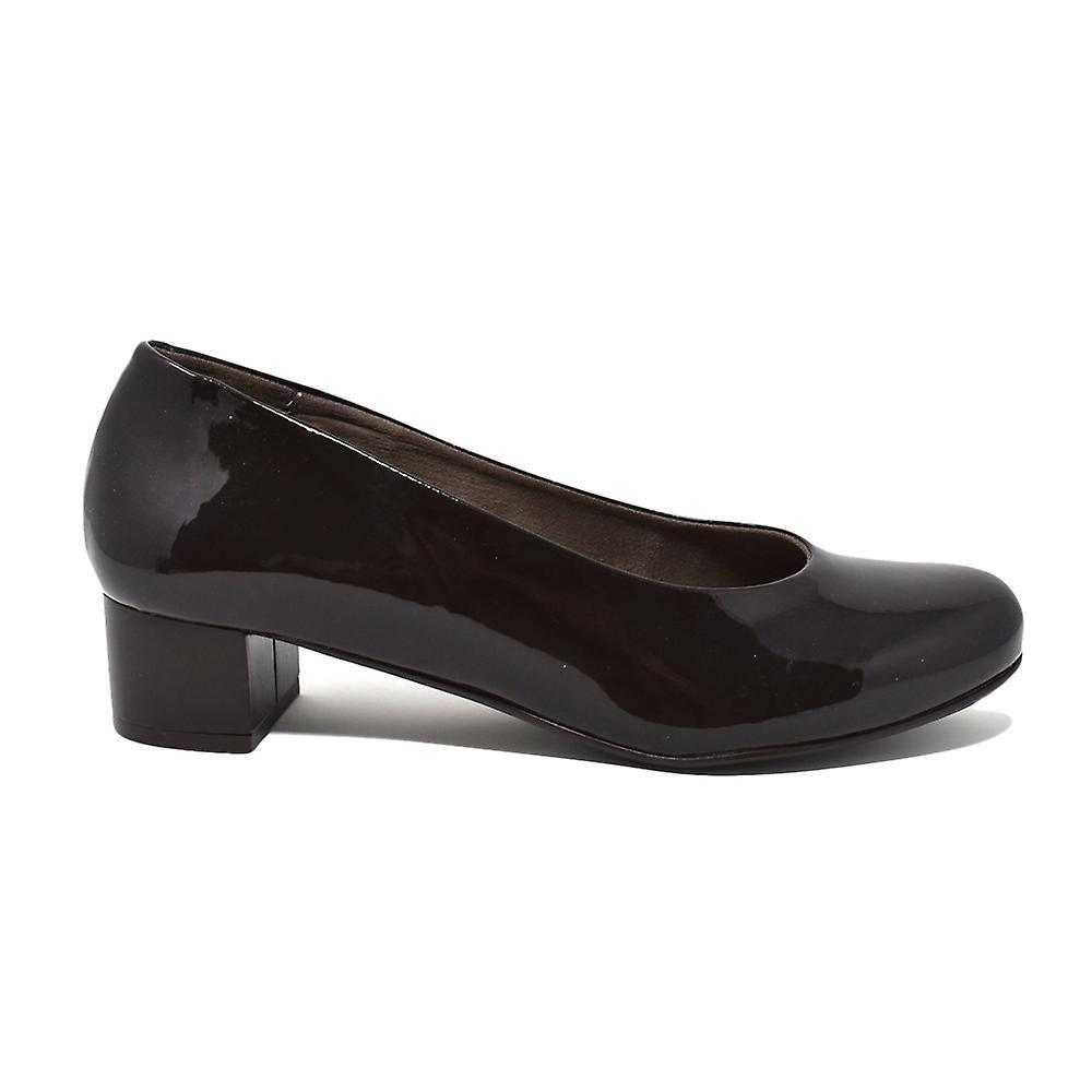 Liberitae Salon Salon chaussures en cuir verni chocolat pointe ogive 21603452-32