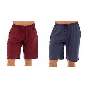 Tom Franks Mens Cotton Lounge Wear Pyjama Shorts (Pack of 2)