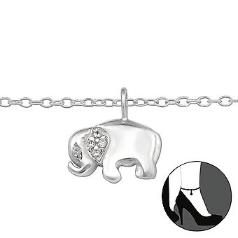 Elephant - 925 Sterling Silver Anklets - W29967x