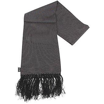 Knightsbridge Neckwear Pin Dot Silk Scarf - Black