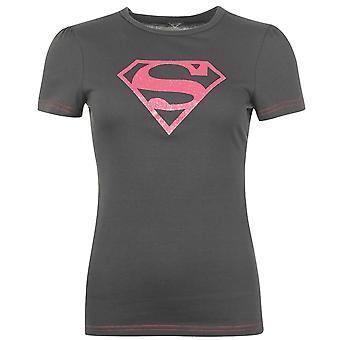 Superman Womens Ladies Tshirt Top t-shirt girocollo