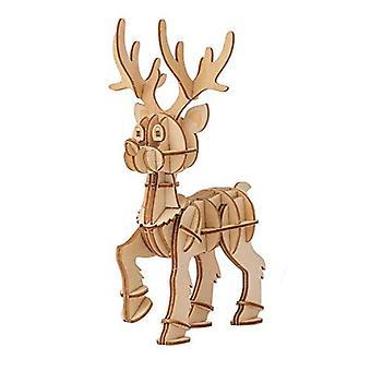 IncrediBuilds renos de madera 3D modelo Kit - vacaciones arte proyecto