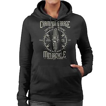 Champion Garage Motorcycle Women's Hooded Sweatshirt