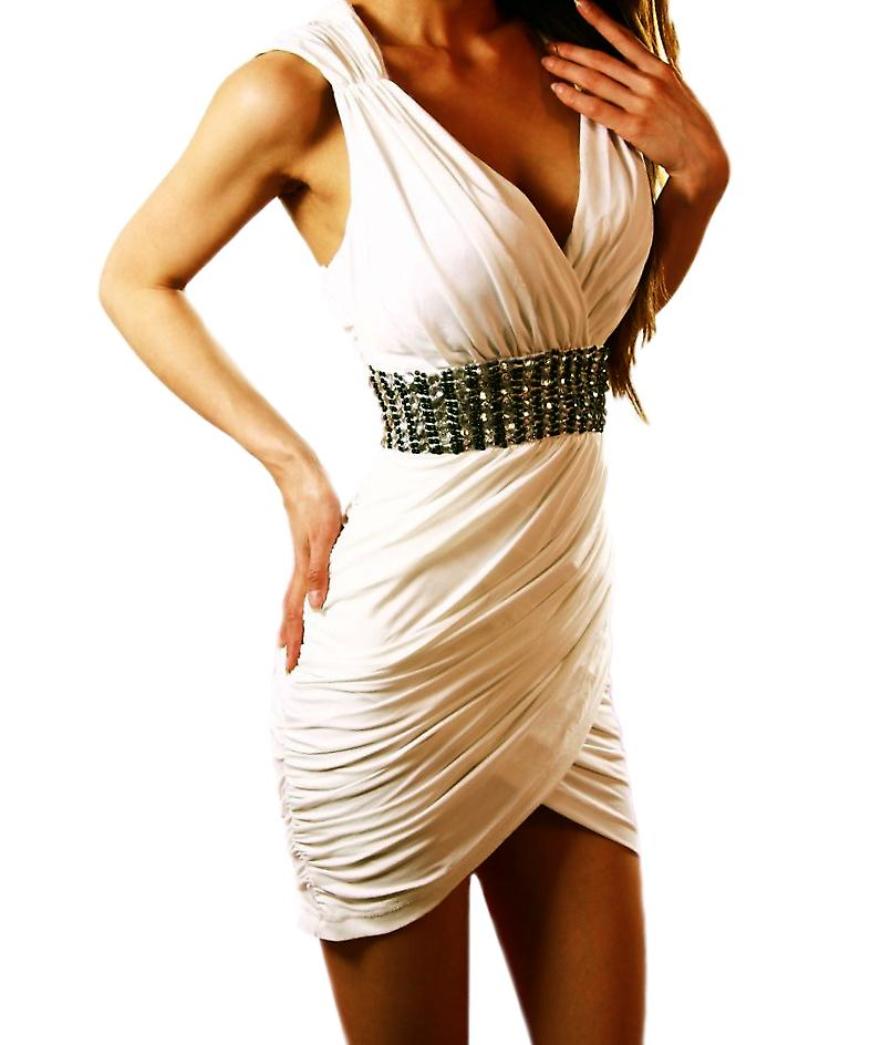 Waooh - Fashion - Short dress draped neckline