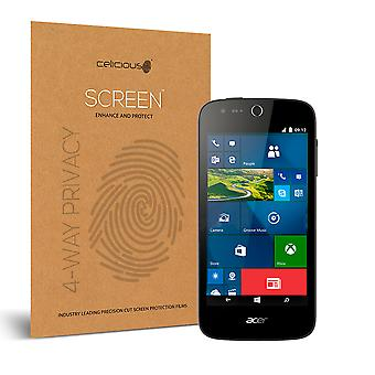 Celicious Privacy Plus 4-Way Anti-Spy Filter Screen Protector Film Compatible with Acer Liquid M330