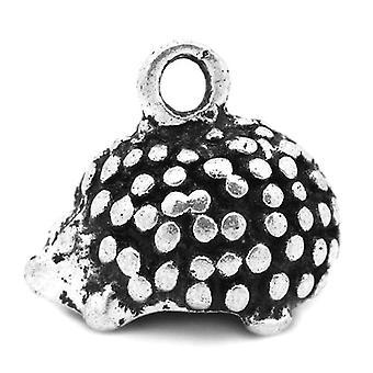 Packet 5 x Antique Silver Tibetan 14mm Hedgehog Charm/Pendant ZX04790