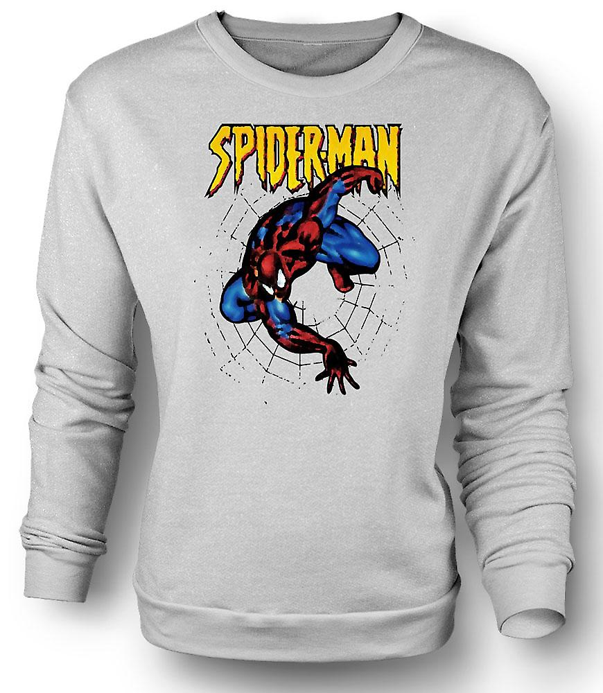 Mens Sweatshirt Superman - Spiderman - Pop Art - komisk hjälte