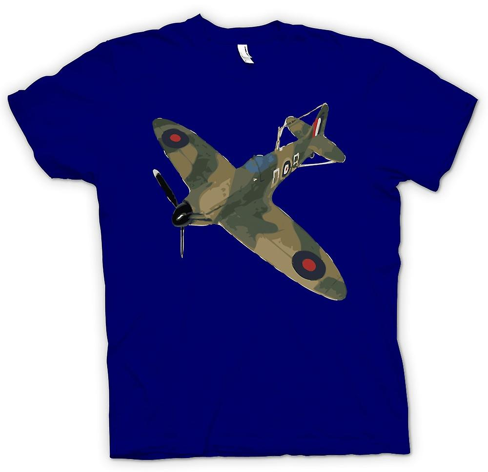 Mens T-shirt - Spitfire Green Cam Pop Art - Quote