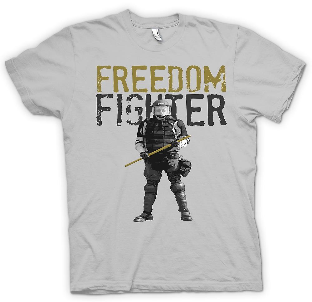 Mens t-skjorte - Freedom Fighter - politistat