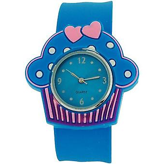 Kids - Girls Analogue Cupcake Blue Dial & Blue Slap On Casual Watch