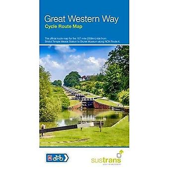 Great Western Way Cycle Route�Map: Bristol Temple Meads to�Brunel Museum NCN4