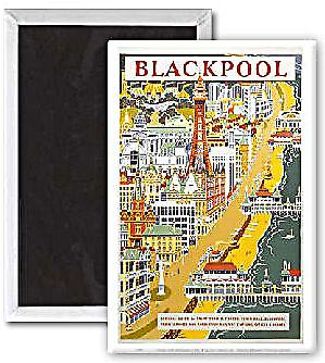 Blackpool Official Guide (pt) (old rail ad.) fridge magnet   (se)