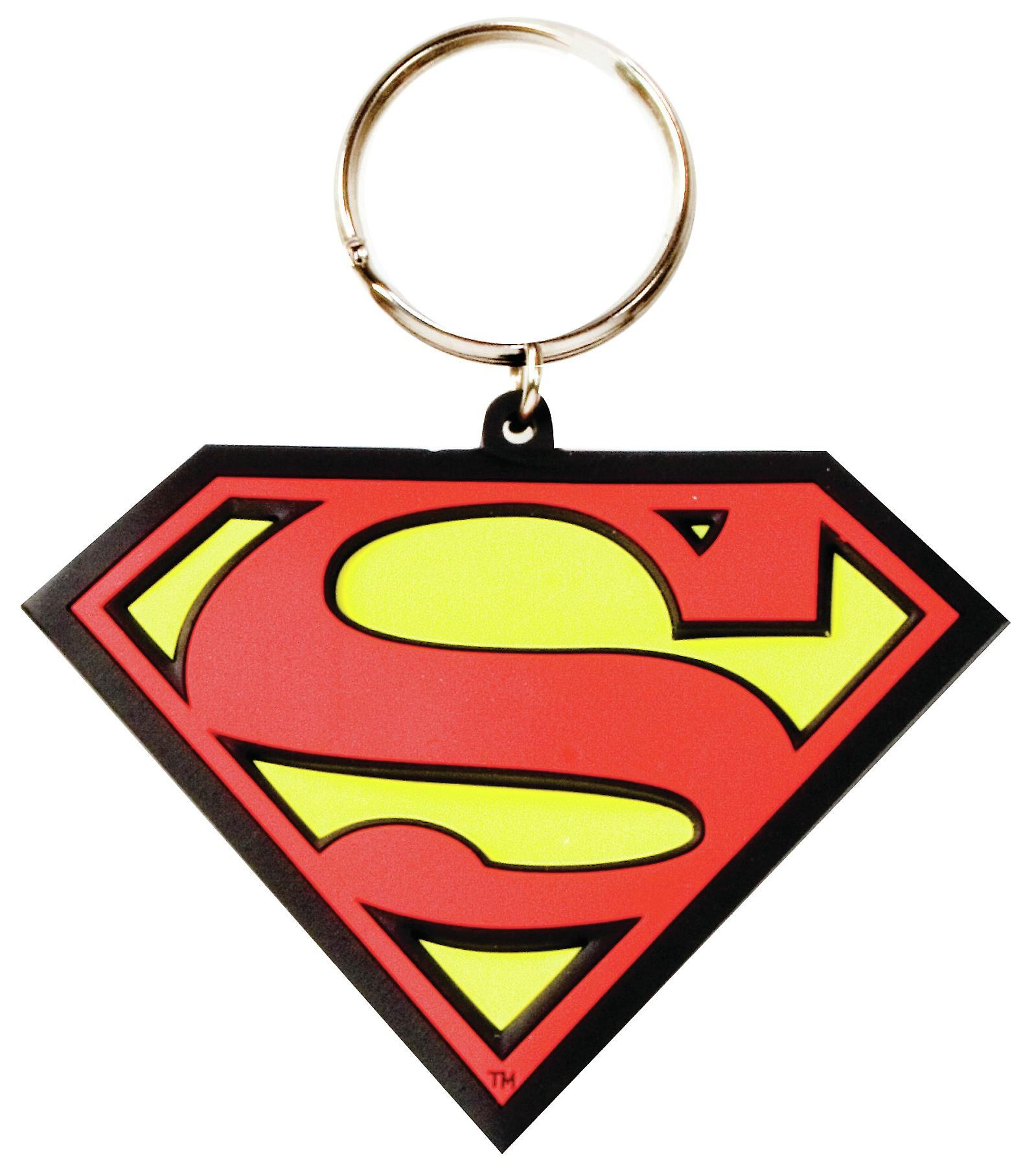 Superman Logo PVC flexible keyring (hb)