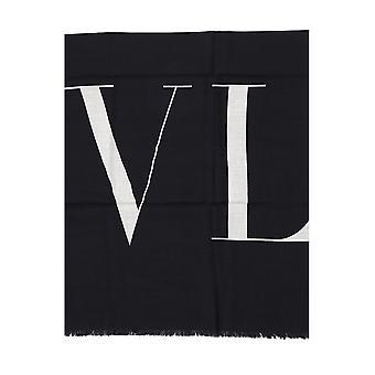 Valentino Garavani Black Cotton Scarf