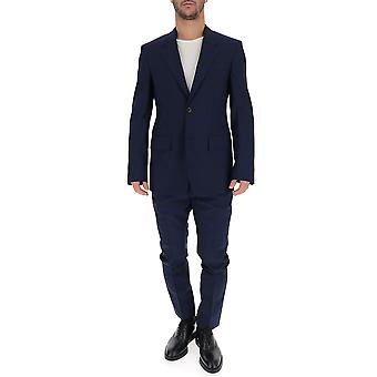 Maison Margiela Blue Cotton Suit