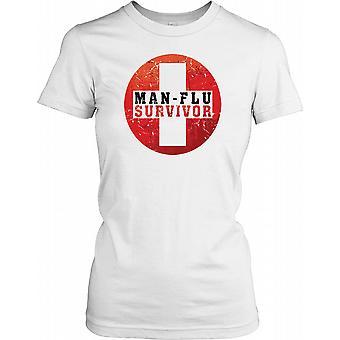 Mannen influensa överlevare - rolig kille damer T Shirt