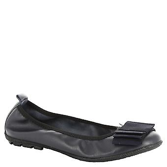 Leonardo Shoes Women's handmade ballerinas in blue leather