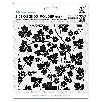 Xcut 6x6 Inch Embossing Folder Flowers & Ivy (XCU 515926)