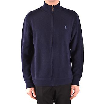 Ralph Lauren Blue Wool Cardigan