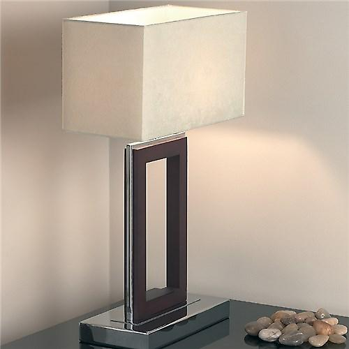Endon 0195-DW Modern Chrome Table Lamp With Shade