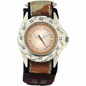 Terræn Beige Camouflage let fastgøre surfe drenge Sports analoge Watch TV-1311B